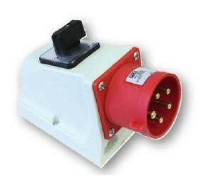 16a stecker mit schalter pce cee stecker mit schalter 16a ip44 75615 6 drehstrom kraftstrom einspei 223 dose ebay