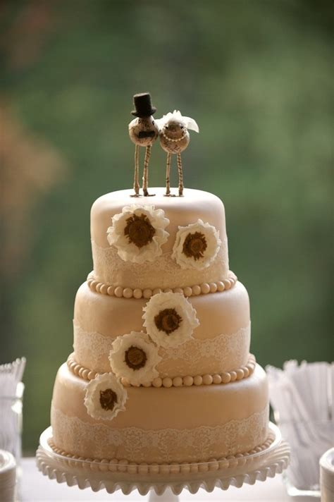 love birds   sweet wedding cake toppers chic vintage brides