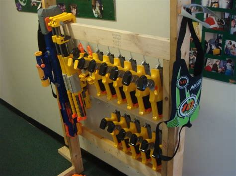 These glorious nerf blasters come in all shapes and. Nerf storage ideas! - A girl and a glue gun