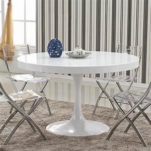 Table Blanche Design : table manger ronde design blanche en bois laqu isola achat vente table a manger seule ~ Teatrodelosmanantiales.com Idées de Décoration