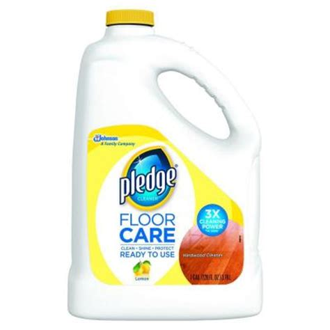 pledge wood floor cleaner pledge 128 oz wood floor cleaner 605896 the home depot