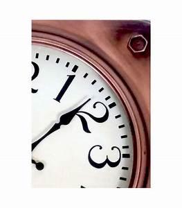 Horloge En Metal : horloge murale carr e en m tal couleur cuivre ~ Teatrodelosmanantiales.com Idées de Décoration