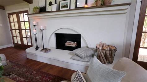 simplified stucco fireplace video hgtv