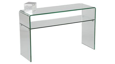 canape d angle en u pas cher console design en verre courbé 1 rayon console design