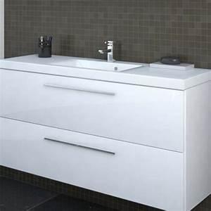 Carino Meuble sous vasque 2 tiroirs 80x58x34 5cm Blanc