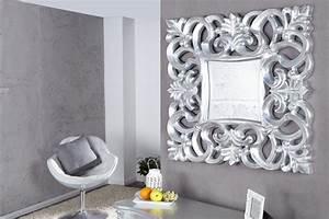Wandspiegel Silber Barock : opulenter barock spiegel venice silber antik wandspiegel 75cm riess ambiente onlineshop ~ Indierocktalk.com Haus und Dekorationen