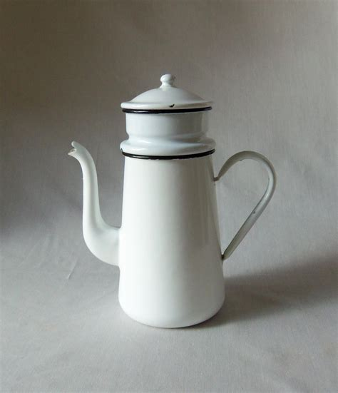 vintage enamel coffee pot french biggin omero home