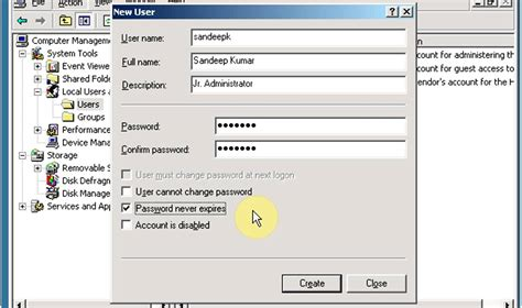 How To Create Local User Account  Windows Server 2003 Youtube