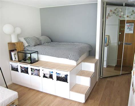 diy storage beds  add extra space  organization