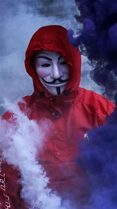 Smoke Mask Anonymous Guy Hoodie Iphone Bomb