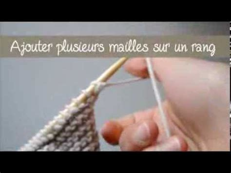 augmentation de plusieurs mailles au tricot