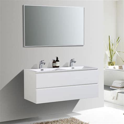meuble de salle de bain double vasque alicia  cm