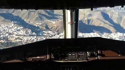 atterraggio  el hierro isole canarie dalla cabina
