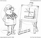Coloring Outline Easel Measurements Clipart Royalty Illustration Bannykh Alex Rf Template sketch template