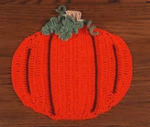 Crochet Pumpkin Placemat Pattern