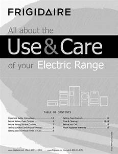 Frigidaire Ffef3003nwc 1507296l User Manual Electric Range