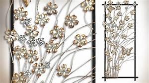 Decoration Murale Fleur : d coration murale en m tal fleurs et papillons ~ Teatrodelosmanantiales.com Idées de Décoration