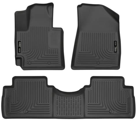 floor mats kia soul 2016 kia soul husky liners weatherbeater custom auto floor liners front and rear black