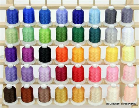 embroidery thread colors new 40 colors machine embroidery thread set