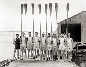 rowing framed canvas vintage photos