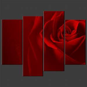 Red irises wall decor : Canvas print pictures high quality handmade free next