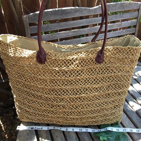 sun  sand bags extra large straw tote beach bag poshmark
