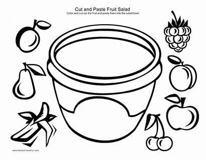 Fruit Paste Cut Salad Worksheets Activity Healthy