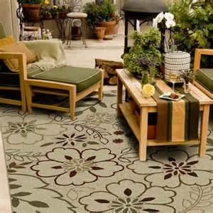 orian floral glory indoor outdoor area rug bisque