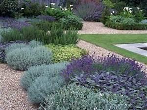 Parterre De Plante : jardin zen avec parterre de plantes mediterraneennes ~ Melissatoandfro.com Idées de Décoration
