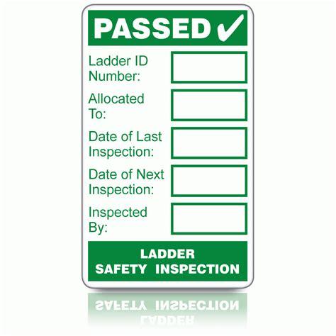buy ladder safety inspection labels ladder inspection