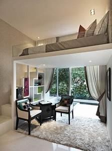 Kleine Dachwohnung Einrichten : die kleine wohnung einrichten mit hochhbett in 2018 hochbett zimmer pinterest schlafzimmer ~ Bigdaddyawards.com Haus und Dekorationen