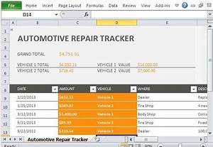Productivity Tracker Excel Template Car Repair Tracker Template For Excel 2013