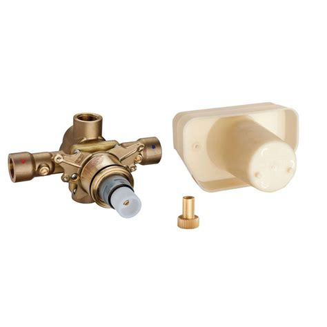 grohe 3 4 in thermostatic valve in starlight chrome 34397000 the home depot
