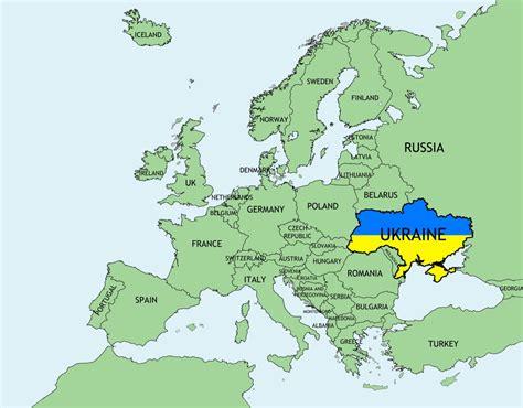 ukraine map  europe