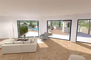 Maison Moderne Avec Grande Baie Vitree Solutions Pour La