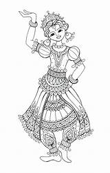 Flamenco Dancer Drawing Coloring Dancing Colouring Getdrawings sketch template