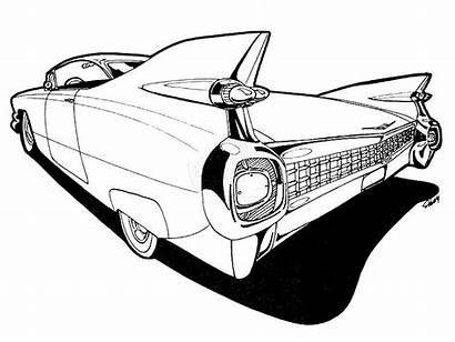 Cadillac Deville Drawing Eldorado Drawings 1959 Coloring