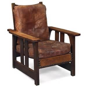 23 gustav stickley morris chair model no 2341 lot 23