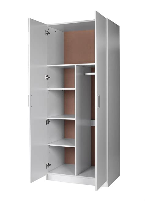 Black Wardrobe With Shelves by Redfern Big Size Combo Wardrobe With 2 Door 4 Shelves