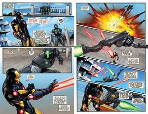 Marvel NOW Iron Man #1 - New Iron Man armour in action ...