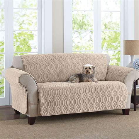 Sofa Covers by This Deluxe Quilted Fleece Like Sofa Cover Is Designed To