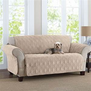 this deluxe quilted fleece like sofa cover is designed to With furniture covers for dog hair