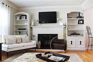 Small living room storage ideas for Organizing living room family picture ideas