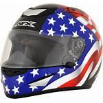 Helmet Flag American Face Racing Motorcycle Afx