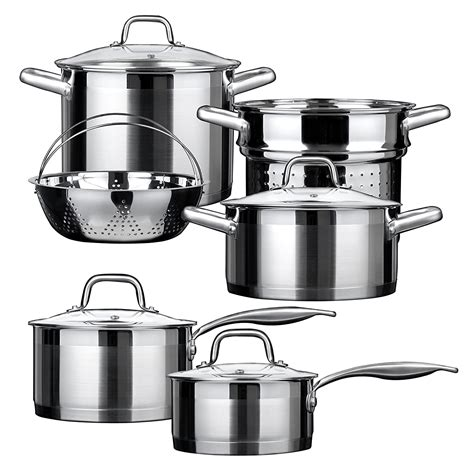 cookware gas steel stainless stoves professional duxtop chef amazon bonded impact technology