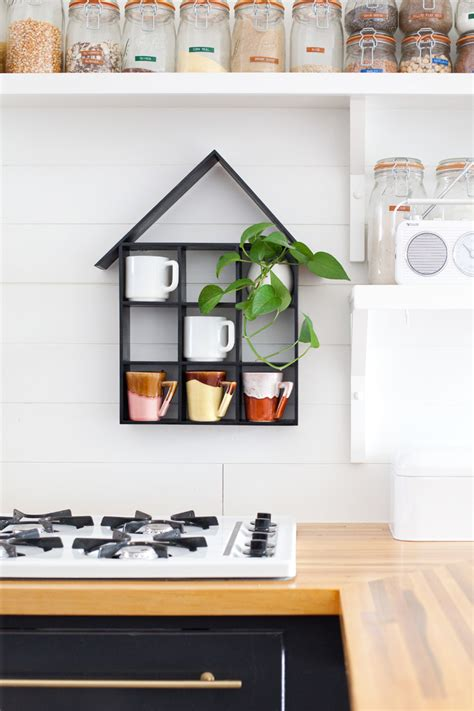 house shaped shelf diy  beautiful mess