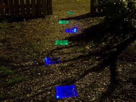 make your own pathway lights how to make a solar powered led lit walkway fun times