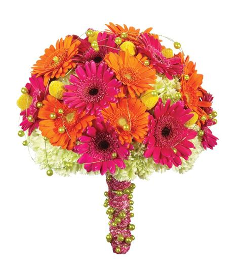 Gerber Daisy Bridal Bouquet And Table Centerpiece For