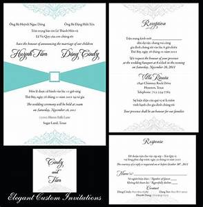 vietnamese wedding invitation templates With vietnamese wedding invitation wording template