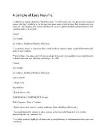easy resume format docs best photos of easy resume template simple resume template simple easy resume template and